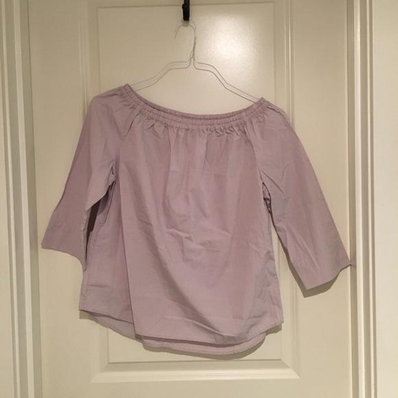a139e081c2d Uniqlo Tops | Extra Fine Cotton 34 Sleeve Off Shoulder Blouse | Poshmark